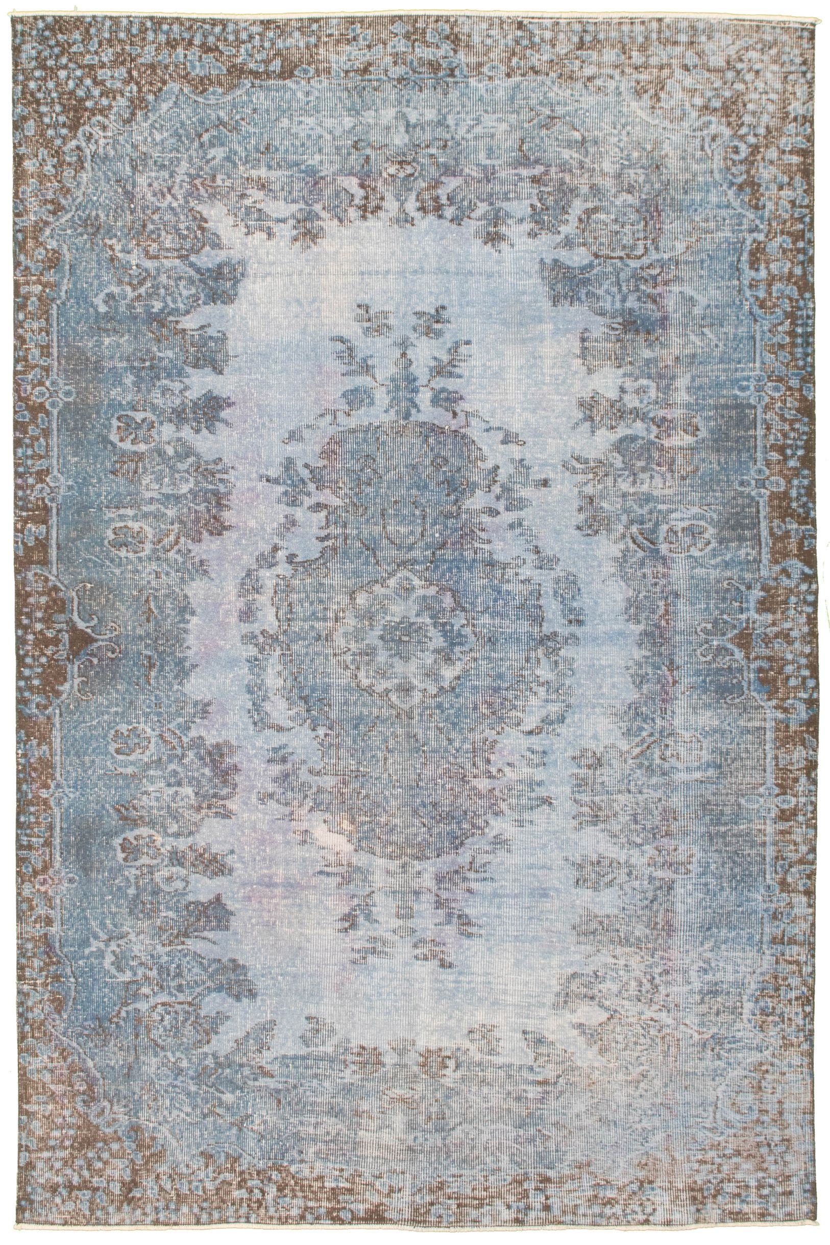 """Hand-knotted Color Transition Light Blue  Wool Rug 5'7"""" x 8'10"""" Size: 5'7"""" x 8'10"""""""
