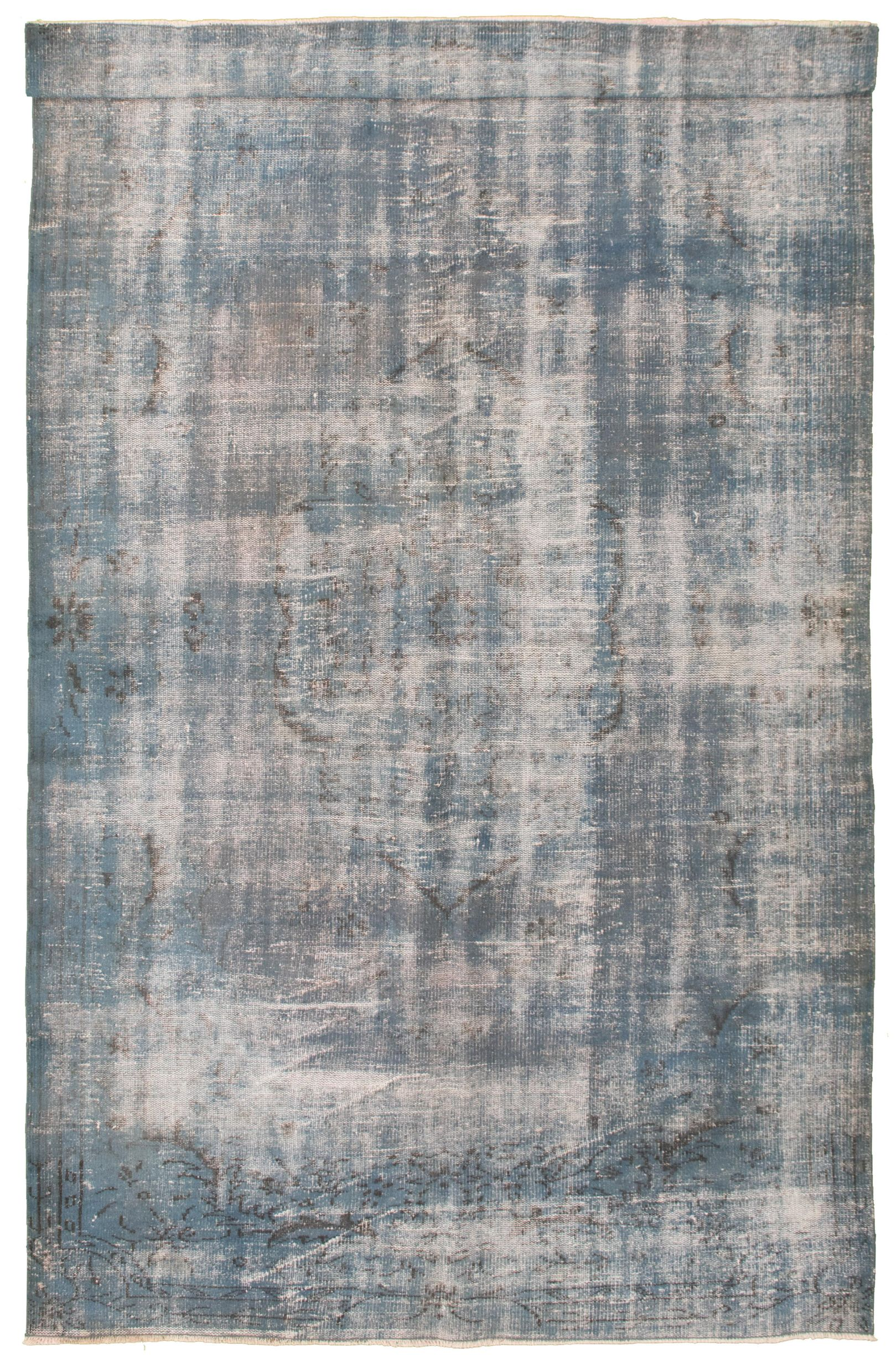 """Hand-knotted Color Transition Blue Wool Rug 5'10"""" x 10'4"""" Size: 5'10"""" x 10'4"""""""